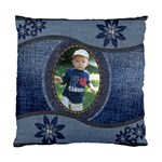 Denim Floral Cushion Case (1 Sided) - Standard Cushion Case (One Side)