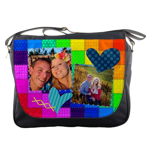 Rainbow Stitch Messenger Bag By Digitalkeepsakes   Messenger Bag   C06nkgexk9uh   Www Artscow Com Front