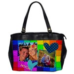 Rainbow Stitch - Oversize Office Handbag (One Side)