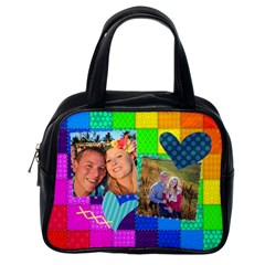 Rainbow Stitch By Digitalkeepsakes   Classic Handbag (two Sides)   2d9gotcu61m1   Www Artscow Com Back