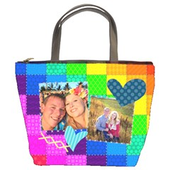 Rainbow Stitch By Digitalkeepsakes   Bucket Bag   0bb1grpq7r53   Www Artscow Com Front