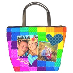 Rainbow Stitch By Digitalkeepsakes   Bucket Bag   0bb1grpq7r53   Www Artscow Com Back