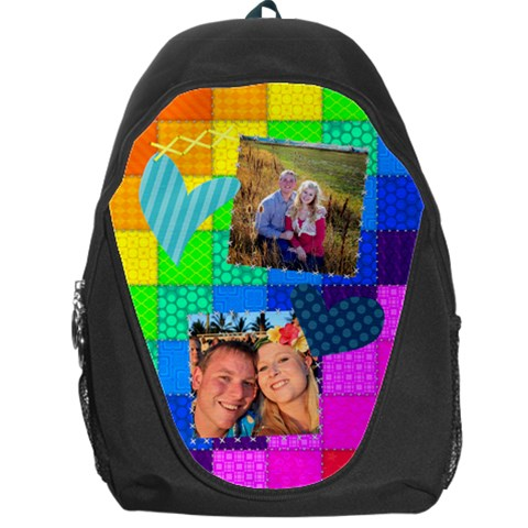 Rainbow Stitch By Digitalkeepsakes   Backpack Bag   Z8gf5bbcy0wy   Www Artscow Com Front