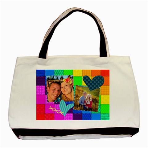 Rainbow Stitch By Digitalkeepsakes   Basic Tote Bag   76cjjpi3t1ma   Www Artscow Com Front