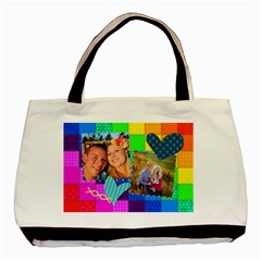 Rainbow Stitch By Digitalkeepsakes   Basic Tote Bag (two Sides)   P2l0uzpxp9in   Www Artscow Com Front