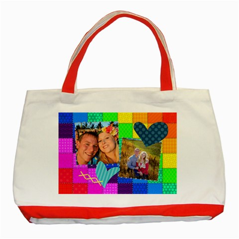 Rainbow Stitch By Digitalkeepsakes   Classic Tote Bag (red)   Faonphp8y59e   Www Artscow Com Front