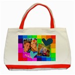 Rainbow Stitch - Classic Tote Bag (Red)