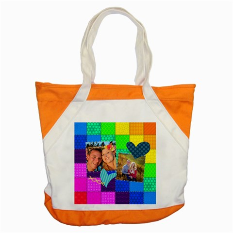 Rainbow Stitch By Digitalkeepsakes   Accent Tote Bag   92fyxjs5od9p   Www Artscow Com Front