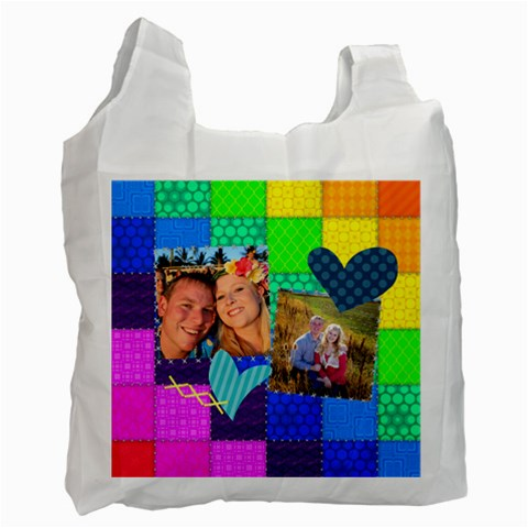 Rainbow Stitch By Digitalkeepsakes   Recycle Bag (one Side)   Ayzxyvu208xg   Www Artscow Com Front