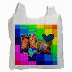 Rainbow Stitch By Digitalkeepsakes   Recycle Bag (two Side)   Uqz0g02iudsz   Www Artscow Com Front
