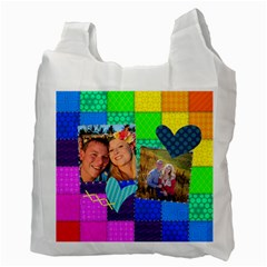 Rainbow Stitch By Digitalkeepsakes   Recycle Bag (two Side)   Uqz0g02iudsz   Www Artscow Com Back