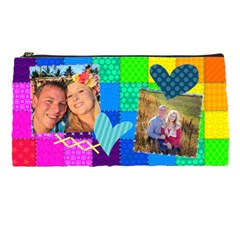 Rainbow Stitch By Digitalkeepsakes   Pencil Case   Ijj5ds1xsmbh   Www Artscow Com Front