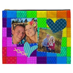 Rainbow Stitch By Digitalkeepsakes   Cosmetic Bag (xxxl)   Zn4i7g81vl78   Www Artscow Com Front