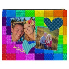 Rainbow Stitch By Digitalkeepsakes   Cosmetic Bag (xxxl)   Zn4i7g81vl78   Www Artscow Com Back