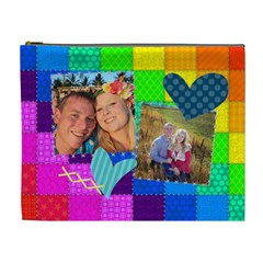 Rainbow Stitch By Digitalkeepsakes   Cosmetic Bag (xl)   R8ldcvb3h9vk   Www Artscow Com Front