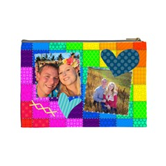 Rainbow Stitch By Digitalkeepsakes   Cosmetic Bag (large)   R4hx039q2uxt   Www Artscow Com Back