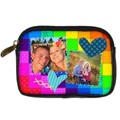 Rainbow Stitch By Digitalkeepsakes   Digital Camera Leather Case   Kb15r7277fs0   Www Artscow Com Front