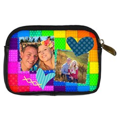 Rainbow Stitch By Digitalkeepsakes   Digital Camera Leather Case   Kb15r7277fs0   Www Artscow Com Back