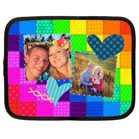 Rainbow Stitch By Digitalkeepsakes   Netbook Case (xl)   Mt33kosfdsth   Www Artscow Com Front