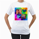 Stitched Quilted Rainbow - Women s T-Shirt (White) (Two Sided)