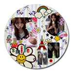 smile - Collage Round Mousepad
