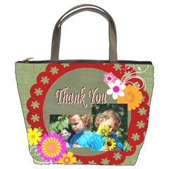 Thank You By Jacob   Bucket Bag   Cghl8vc08ogj   Www Artscow Com Front