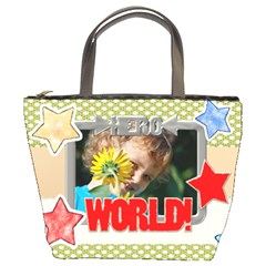 Happy Holiday By Jacob   Bucket Bag   K0zvzhfrql42   Www Artscow Com Front