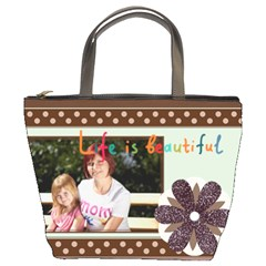 Happy Holiday By Jacob   Bucket Bag   80wybqvcie99   Www Artscow Com Front