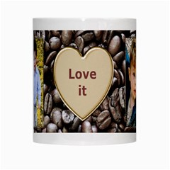 Love It White Mug By Deborah   White Mug   Ptd4w8rjfy6k   Www Artscow Com Center