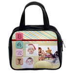 fun, kids, flowers, happy, child - Classic Handbag (Two Sides)