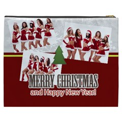Merry Christmas By Angena Jolin   Cosmetic Bag (xxxl)   1ya6u362iekc   Www Artscow Com Back