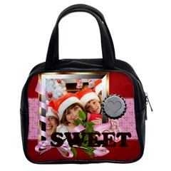 Love, Happy, Sweet By Mac Book   Classic Handbag (two Sides)   E4k61o5q7vkn   Www Artscow Com Front