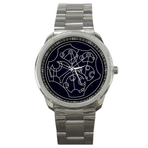 Wibbly Wobbly Timey Wimey Watch By Urlogicfails   Sport Metal Watch   2m0lxhmrr1qk   Www Artscow Com Front