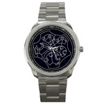 Wibbly Wobbly Timey Wimey Watch - Sport Metal Watch
