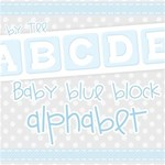Baby Boy Block Blue Alphabet