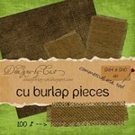 Burlap Pieces - Embellishments  Elements