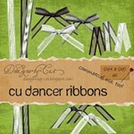 Black, Grey, White - Semi-Sheer Dancer Ribbons