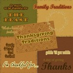 Thanksgiving Traditions: Wordart