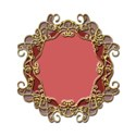 wire frame oval 50p red blizzard5