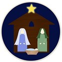 nativity in circle frame