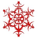 Red sparkle snowflake2