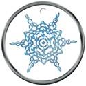 snowflake round tag