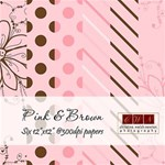 Pink & Brown Background Papers