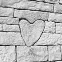 stone heart 12 x 12