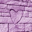 stone heart  purple12 x 12