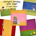 Barnyard Birthday QuickPages