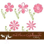 Pink Flower Embellishment