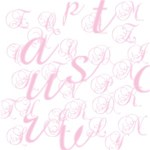 Love Pink  Alphabets