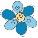 happy blue flower