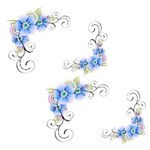 Blue Flower Theme